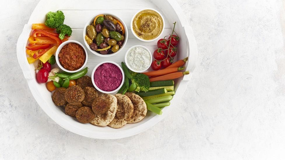 Assiette Mezzé du Moyen-Orient